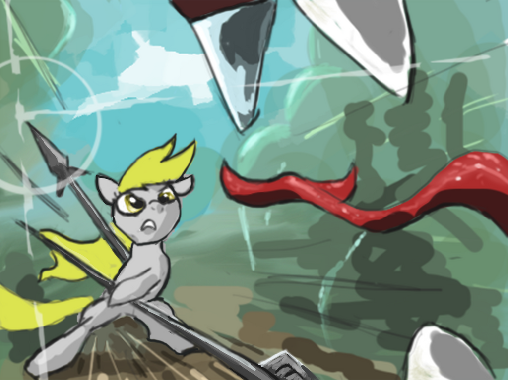 Stand and Fight Derpy by Kixalin
