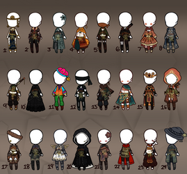[Open] 24 DND Outfits