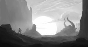 Lost Creature (Black and White)