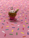 Kawaii birthday cupcake