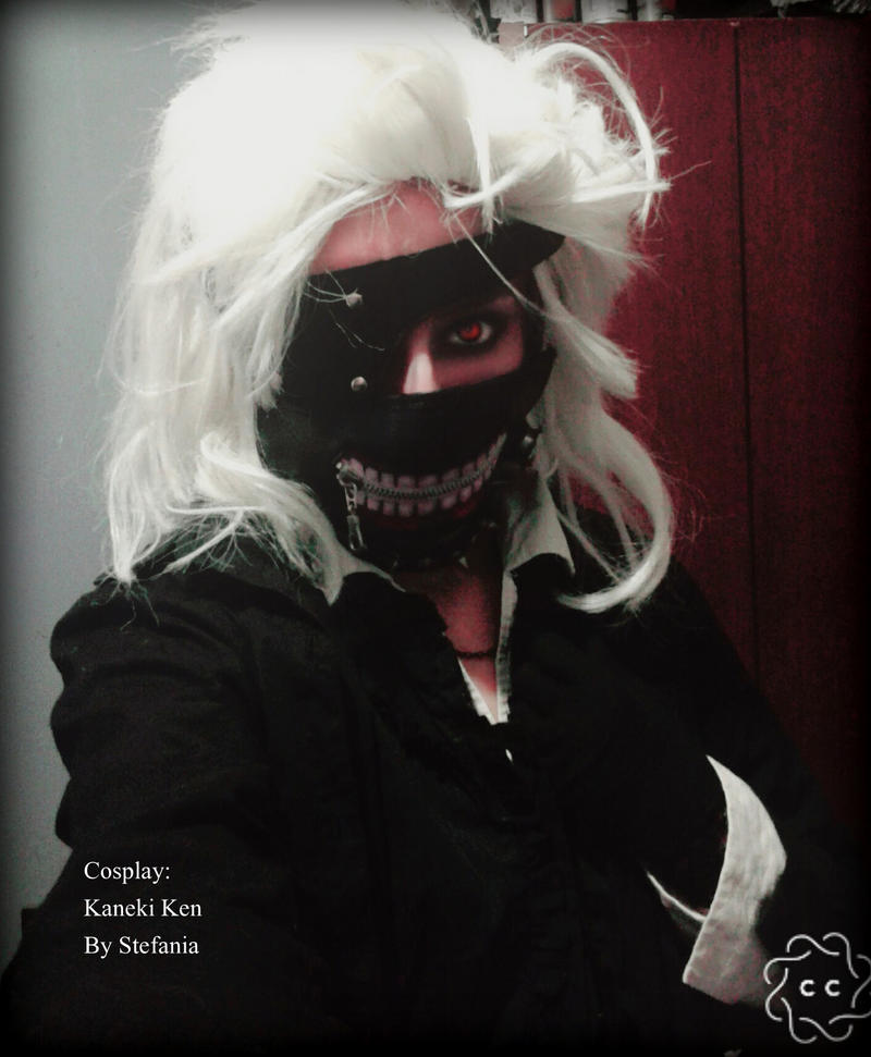 Kaneki cosplay by lawless-glamour