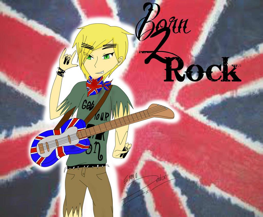 Born 2 Rock:Punk!England-Hetalia Musicians Contest by hetaliamegafan