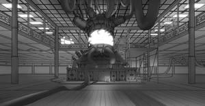 Cyber Punk Temple Interior