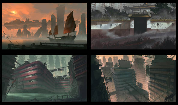 robot zombies, city streets thumbs