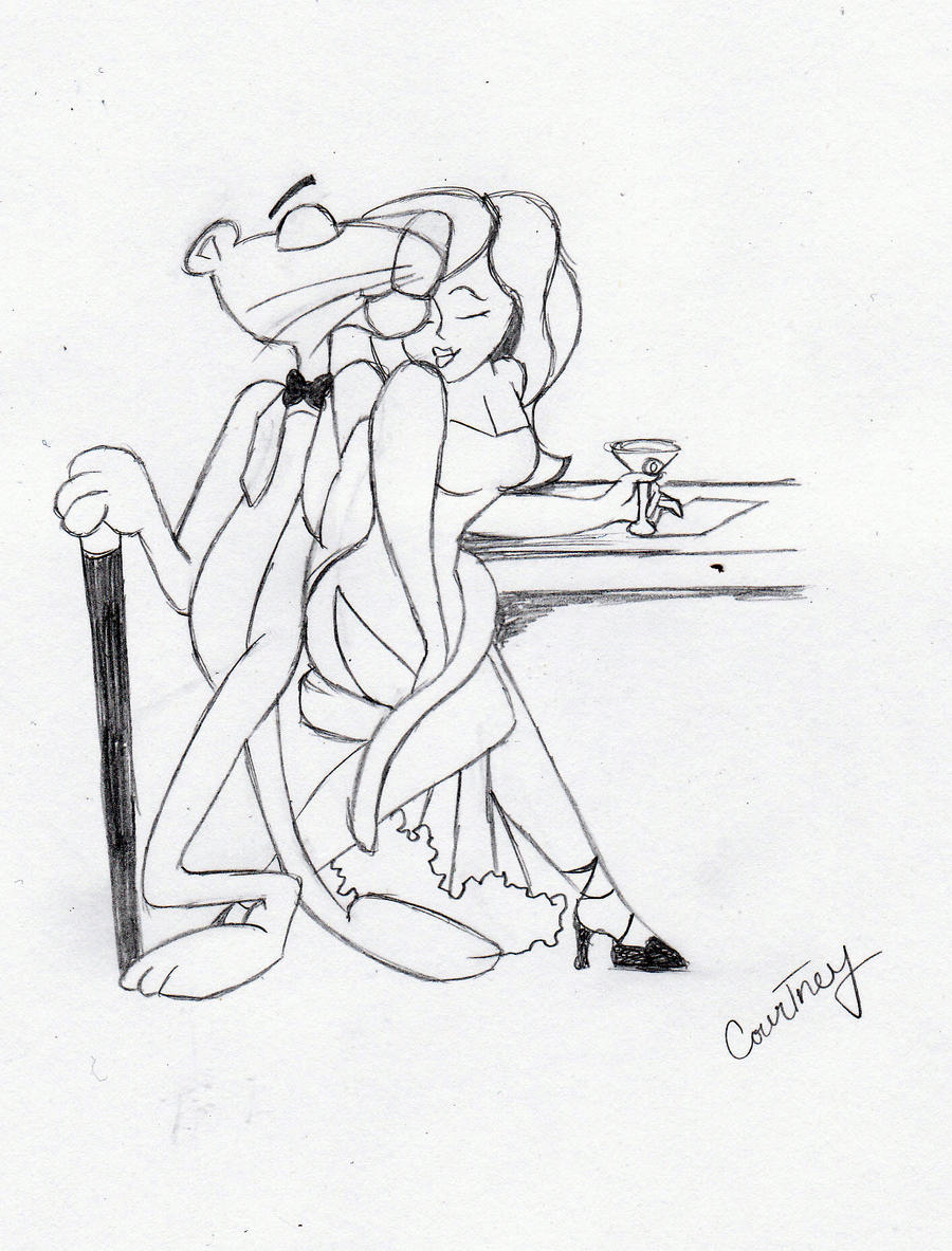pink panther sketch by passiononpaper on deviantart