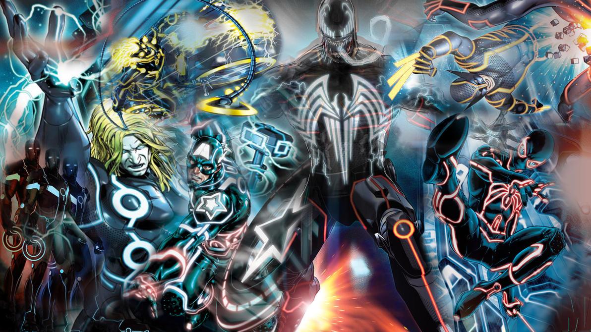 Download Wallpaper Marvel Deviantart - marvel_tron_collage_by_saburotsu123-d3cwuge  Snapshot_856135.jpg