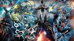Marvel Tron collage