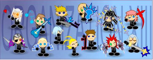 Chibi Organization XIII by LegendaryFrog