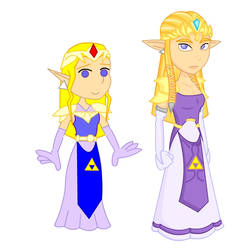 Old and New: Zelda by LegendaryFrog