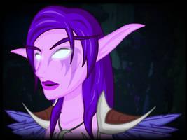 Commission:  WoW Night Elf by LegendaryFrog