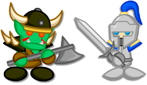 Chibi Warcraft Grunt + Footman by LegendaryFrog
