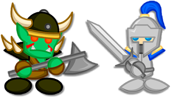 Chibi Warcraft Grunt + Footman