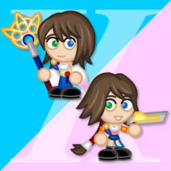 Chibi FFX and X-2 Yuna by LegendaryFrog