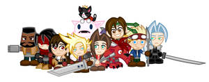Chibi Final Fantasy VII by LegendaryFrog