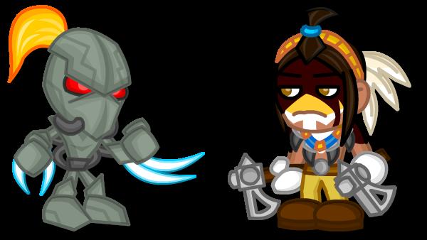 Chibi Killer Instinct: Fulgore Vs Thunder by LegendaryFrog