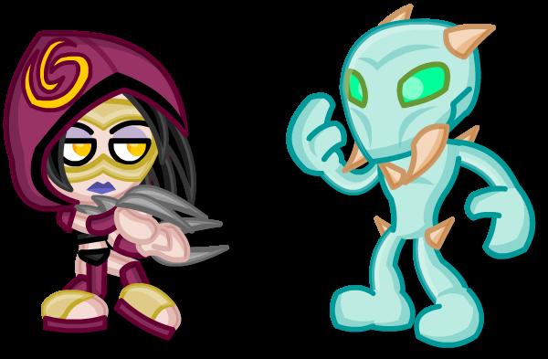 Chibi Killer Instinct:  Sadira Vs Glacius by LegendaryFrog