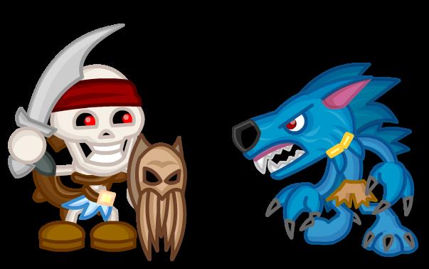 Chibi Killer Instinct: Spinal vs Sabrewulf by LegendaryFrog