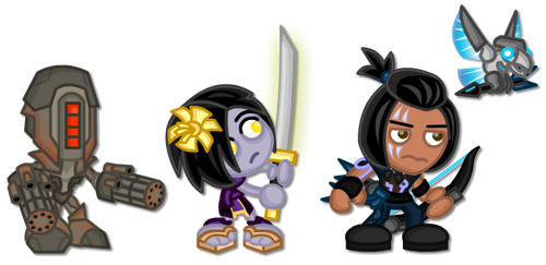 KI Chibis: Kilgore, Shin Hisako, Eagle