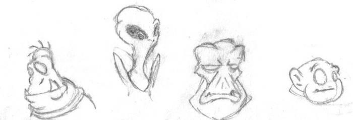 Random Alien Dudes by LegendaryFrog