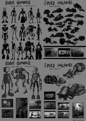 Robot Romance - Speed Machine Sketches