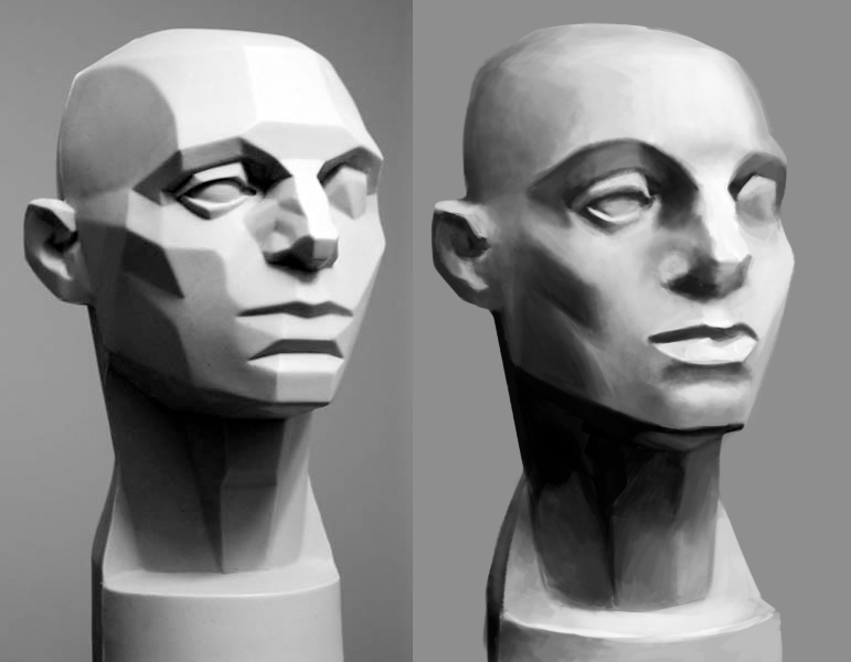 face plane study by spikings on deviantart