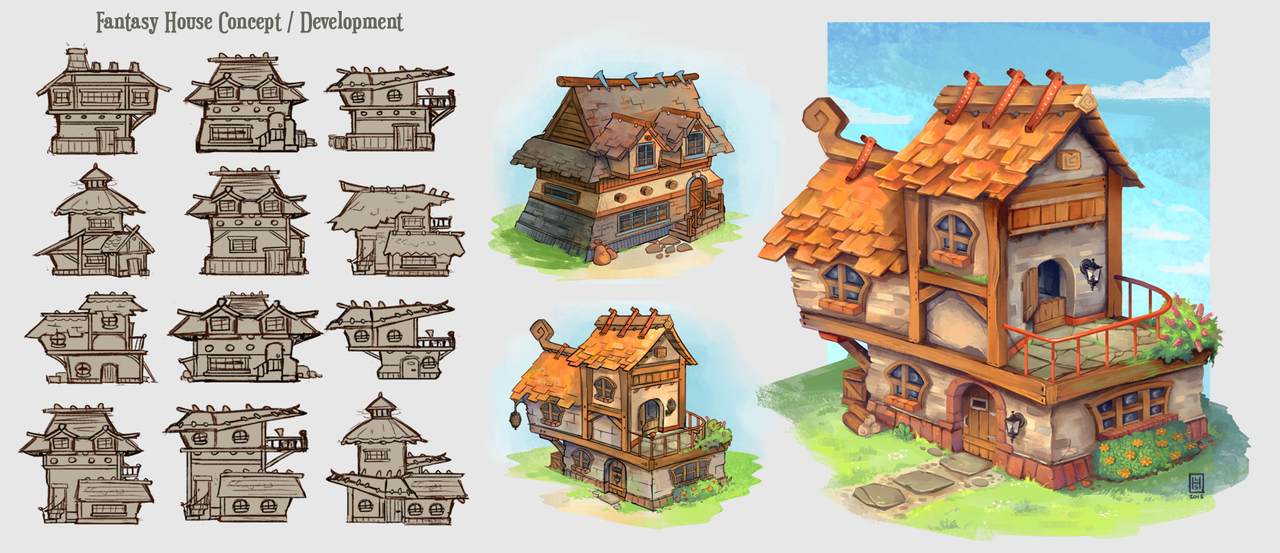 Fantasy house concepts by spikings on deviantart for Concept home
