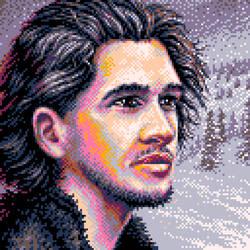 Pixel-art - 'Snowy day' (pico-8)
