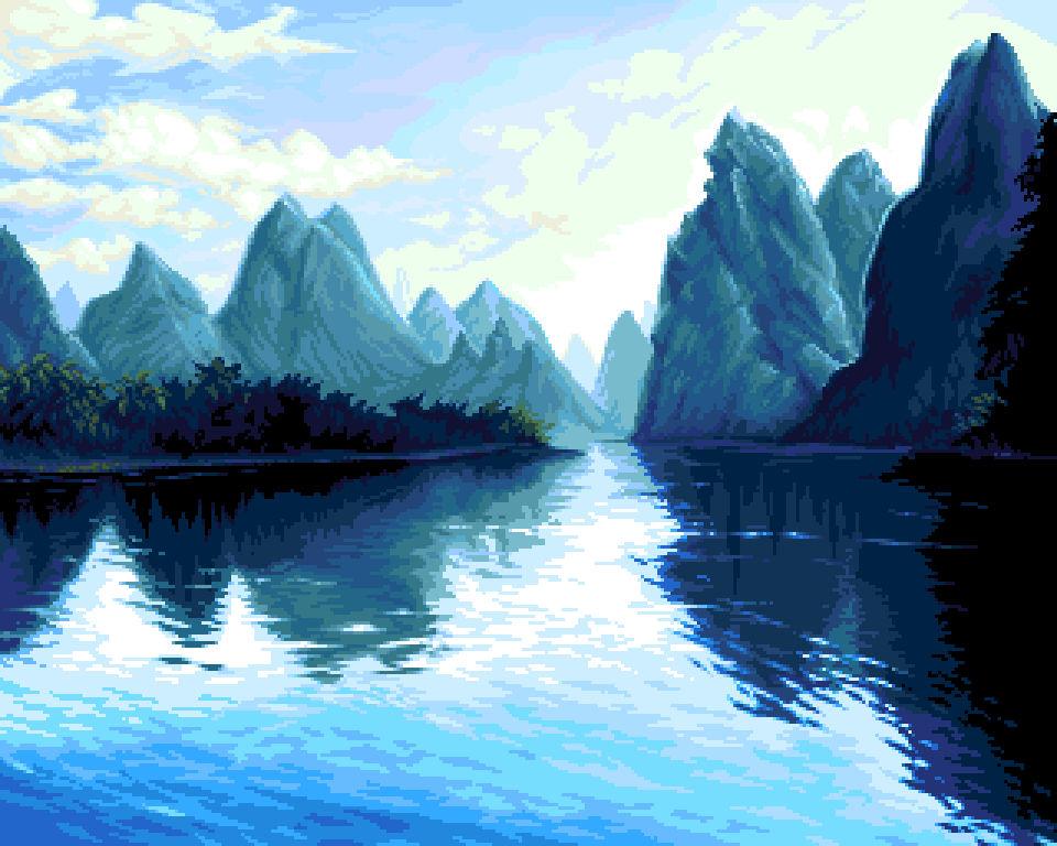 pixel-art - 'riverland'