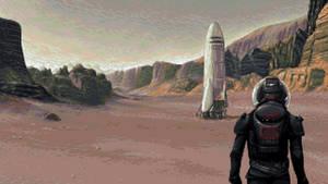 Pixel Art - Red Planet by jokov