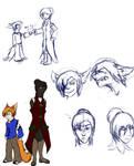 Saiph and Helena Sketches.