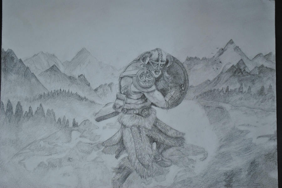 above is skyrim drawing - photo #11