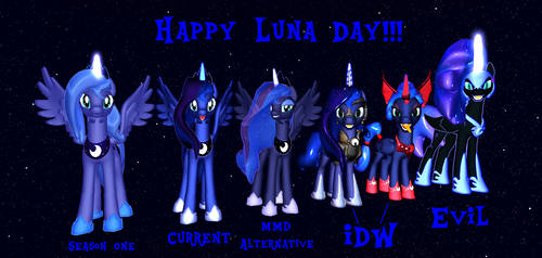 The Many MMD Looks of Luna by Mario-McFly