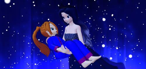 Eliza's Winter Flight With Luna by Mario-McFly