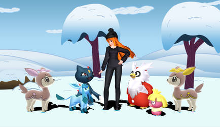 Winter Outing with Pokemon (Happy B-Day, Kitty!!!) by Mario-McFly