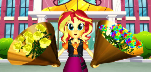 Sunset Shimmer's Gift To Her Fans by Mario-McFly