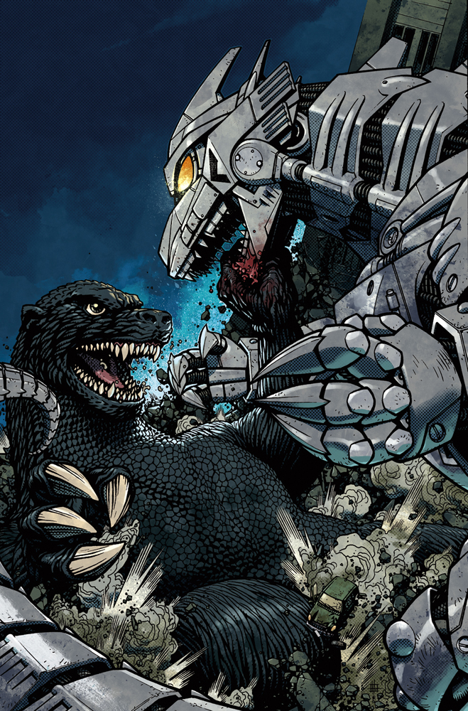 Godzilla Cover 5 Color by nelsondaniel