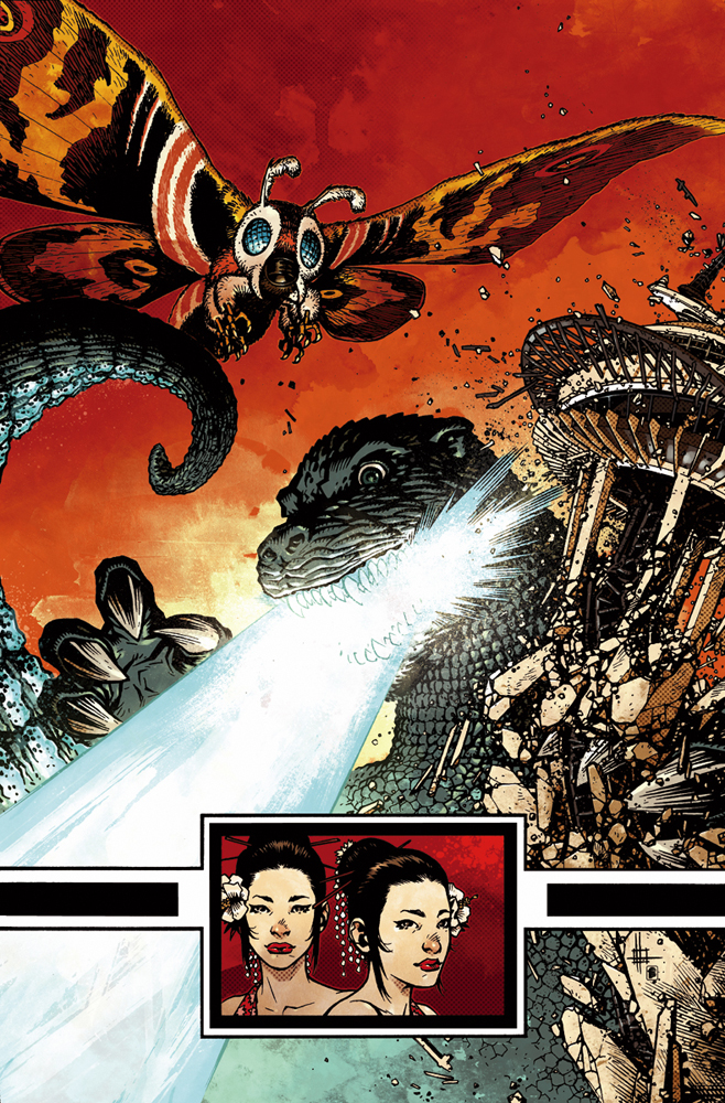 Godzilla Cover 6 Color by nelsondaniel