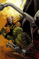 Judge Dredd cover #2 color by nelsondaniel