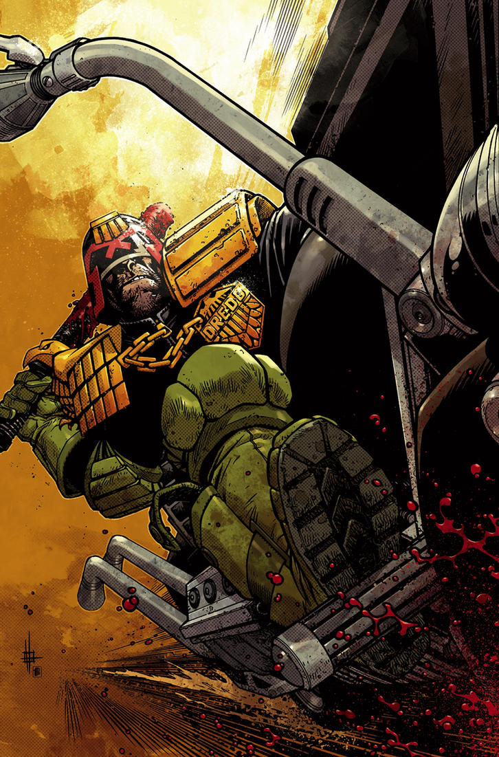 Judge Dredd cover #2 color by nelsondaniel