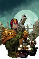 Judge Dredd #1 Carlos Ezquerra color cover by nelsondaniel