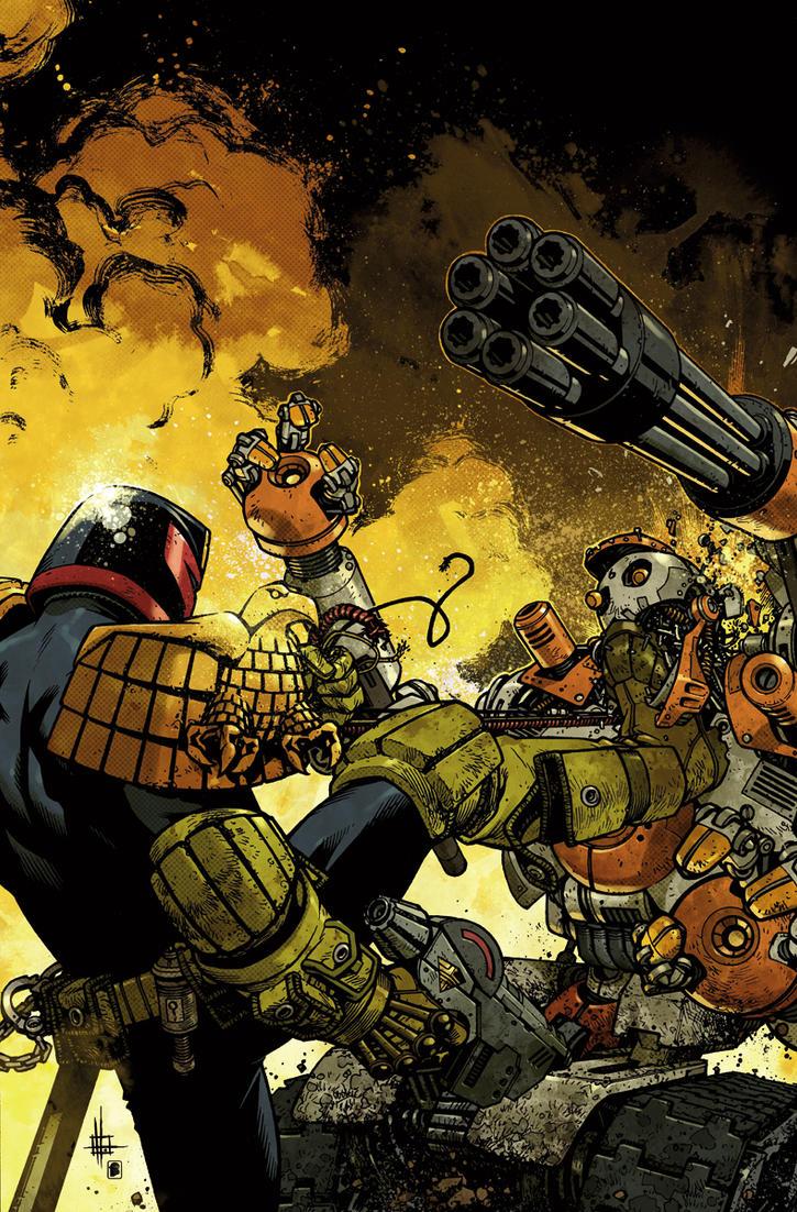 Judge Dredd cover #3 color by nelsondaniel