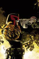 Judge Dredd cover #4 color by nelsondaniel