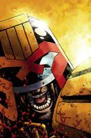 Judge Dredd cover #6 color by nelsondaniel