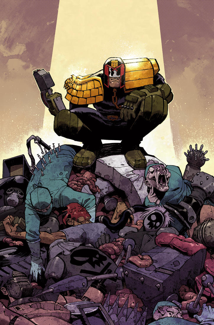 Judge Dredd cover #7 by nelsondaniel