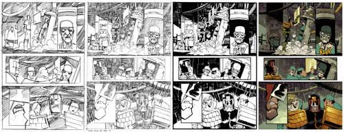 Judge Dredd #8 page 4 Process by nelsondaniel