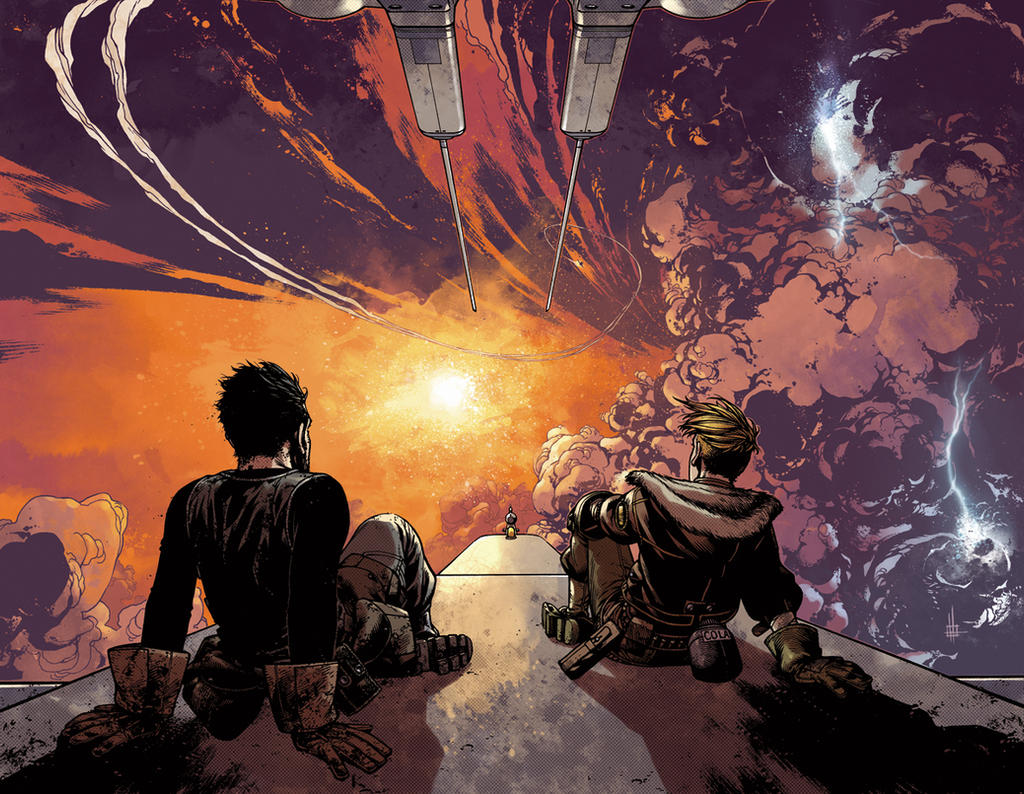 WIld Blue Yonder issue 3 pages 14 and 15 Color by nelsondaniel