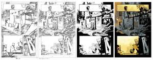 Judg Dredd #15 page 7 process
