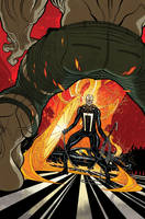 All-NEW GHOST RIDER #5 Cover color by nelsondaniel