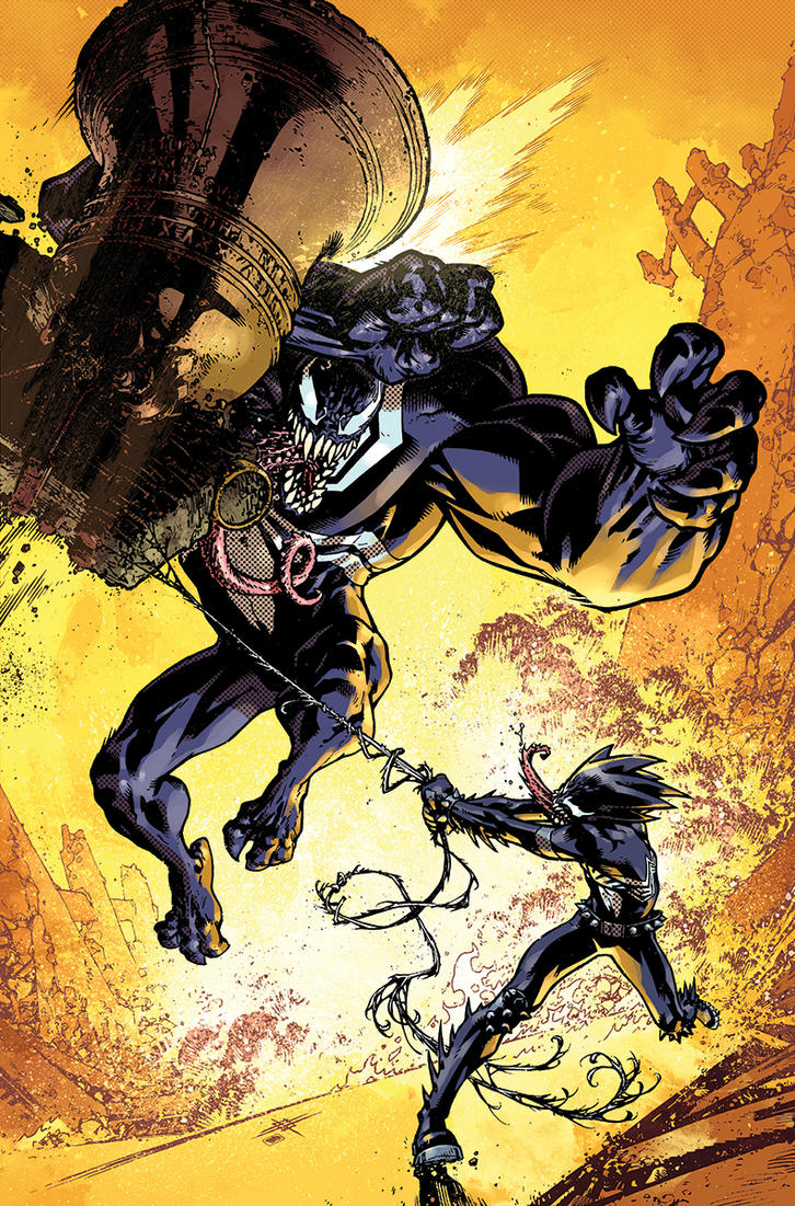 Venom the Spaceknight cover 13 Color by nelsondaniel