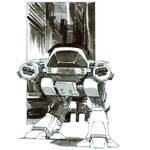 Inktober. ED-209. Robocop